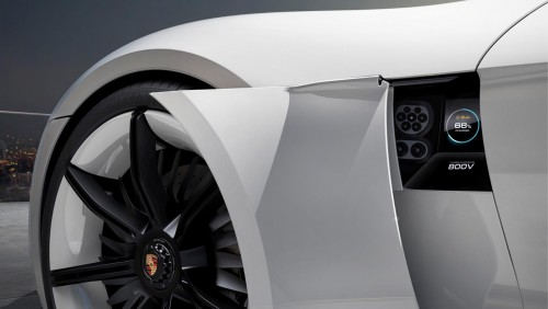 Porsche Mission E laddning